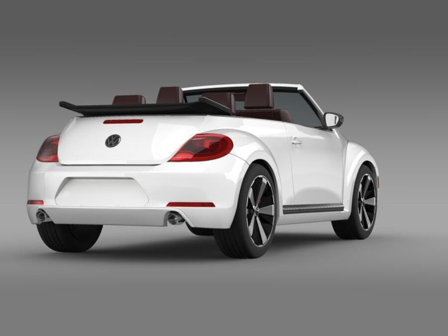 VW Beetle Cabrio 2013 royalty-free 3d model - Preview no. 8