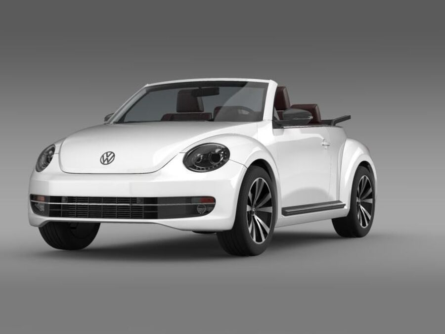 VW Beetle Cabrio Эксклюзив royalty-free 3d model - Preview no. 2