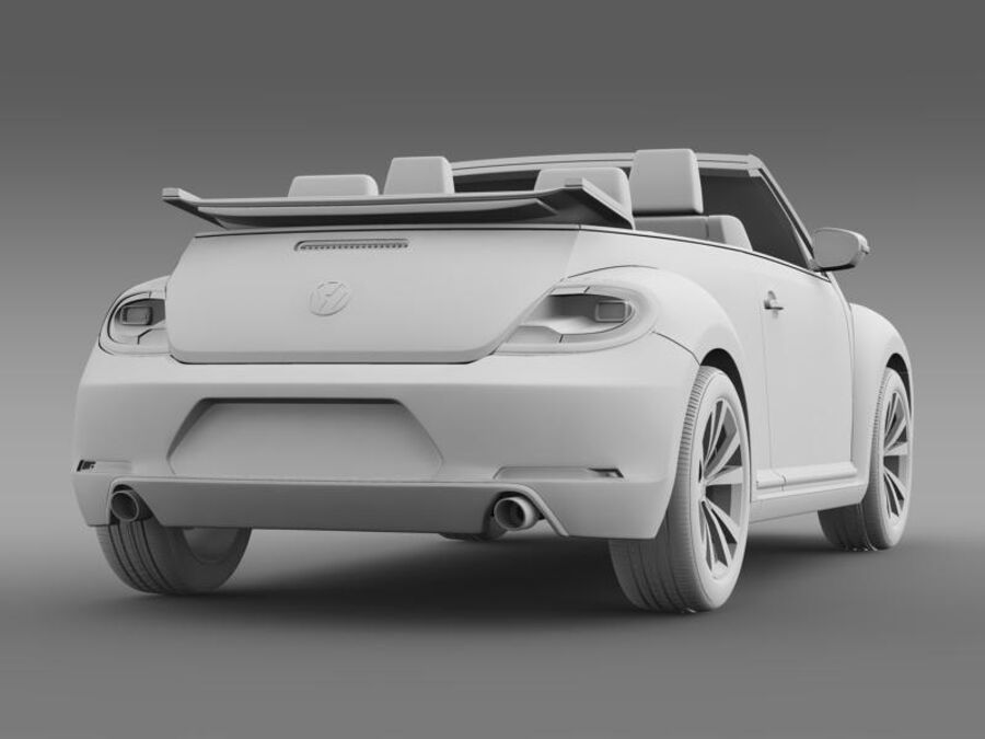 VW Beetle Cabrio Эксклюзив royalty-free 3d model - Preview no. 17