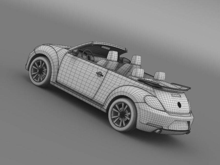 VW Beetle Cabrio Эксклюзив royalty-free 3d model - Preview no. 21