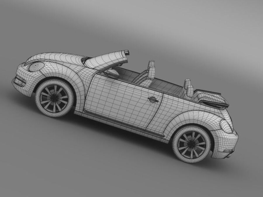 VW Beetle Cabrio Exclusivo royalty-free modelo 3d - Preview no. 20