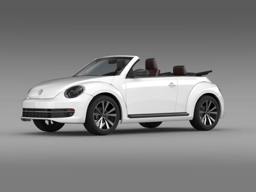 VW Beetle Cabrio Эксклюзив royalty-free 3d model - Preview no. 3