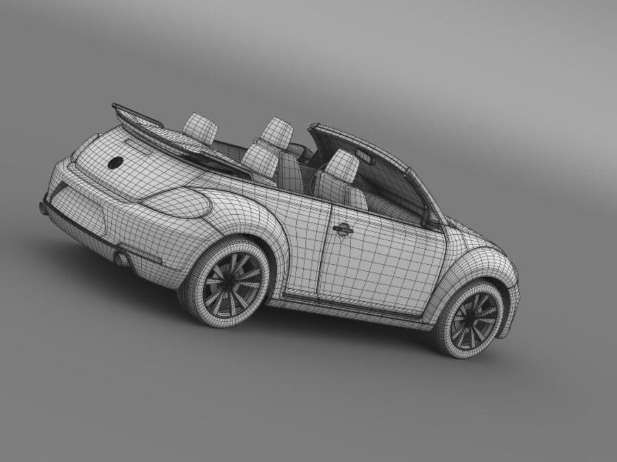 VW Beetle Cabrio Эксклюзив royalty-free 3d model - Preview no. 22