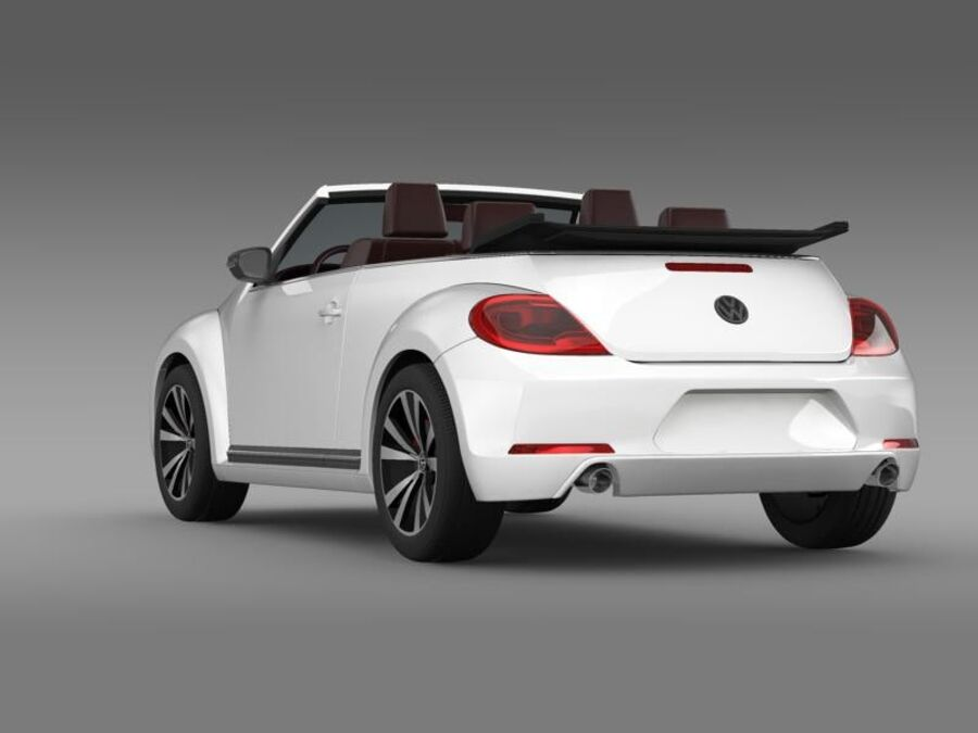 VW Beetle Cabrio Эксклюзив royalty-free 3d model - Preview no. 6