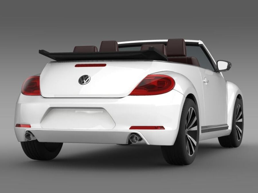 VW Beetle Cabrio Эксклюзив royalty-free 3d model - Preview no. 7
