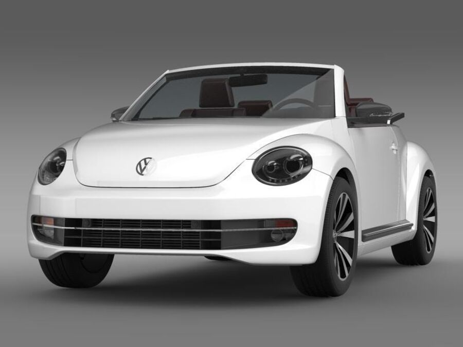 VW Beetle Cabrio Эксклюзив royalty-free 3d model - Preview no. 1