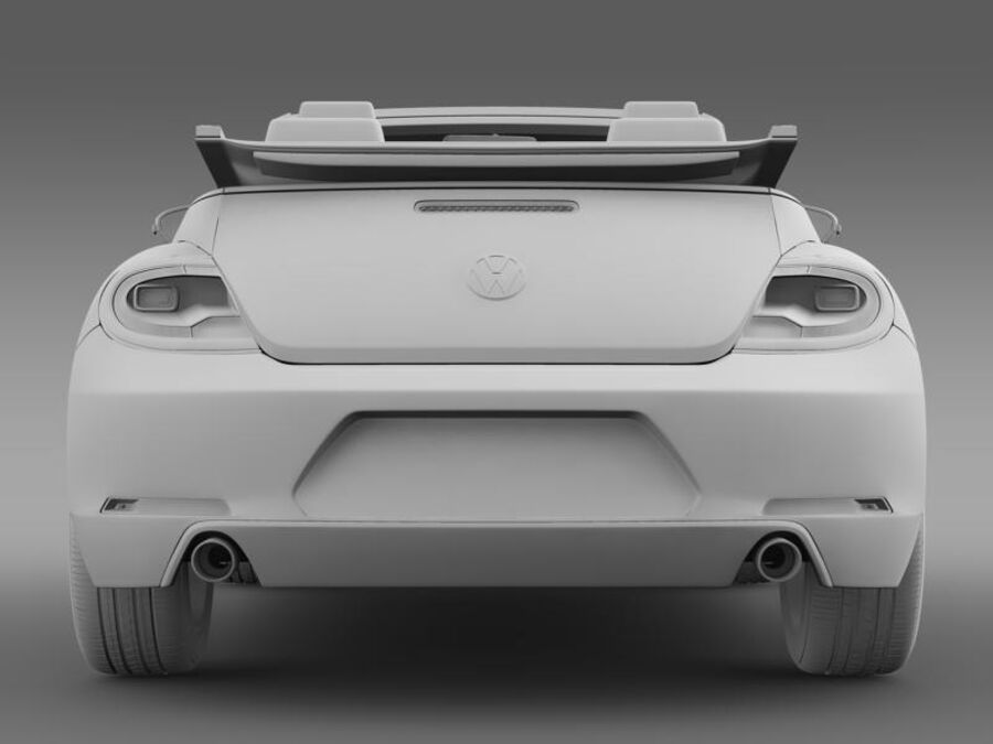 VW Beetle Cabrio Эксклюзив royalty-free 3d model - Preview no. 18