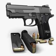 Sig Sauer P229ダークエリート9mm 3d model