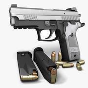 Sig Sauer P229プラチナ9mm 3d model