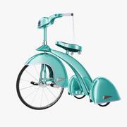 三轮车儿童自行车 3d model