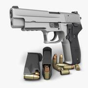 Sig Sauer P226ステンレス9mm 3d model
