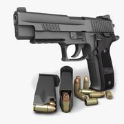 Sig Sauer P226ダークエリート9mm 3d model