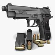 Sig Sauer P226ダークエリートTB 9mm 3d model