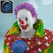Scary Toon Rigged Clown 3d model