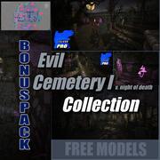 Livello horror di Evil Cemetery Addams 3d model