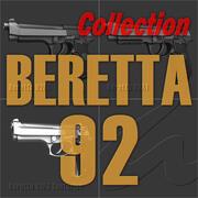 ベレッタ92シリーズコレクション 3d model