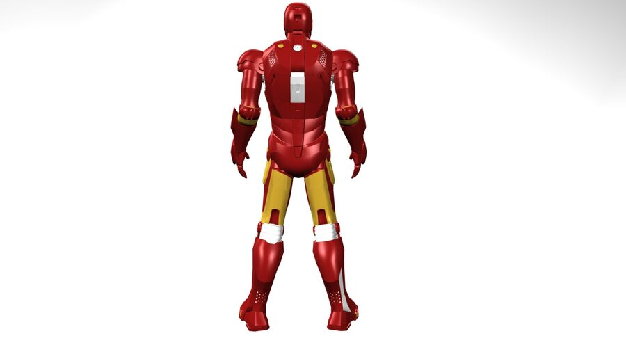 Iron Man royalty-free 3d model - Preview no. 3