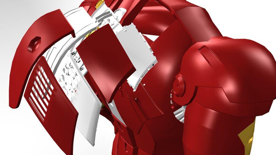Iron Man royalty-free 3d model - Preview no. 7