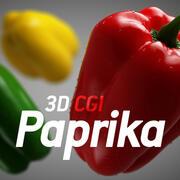 3D Графика Паприка 3d model