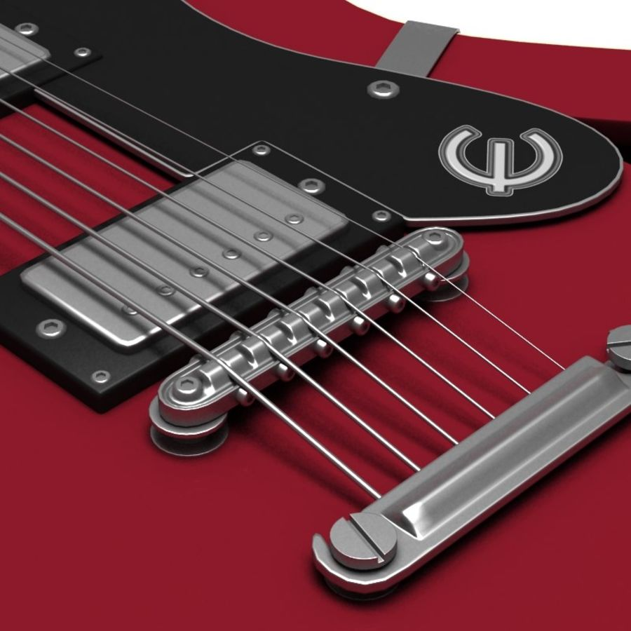 Guitar electric royalty-free 3d model - Preview no. 4