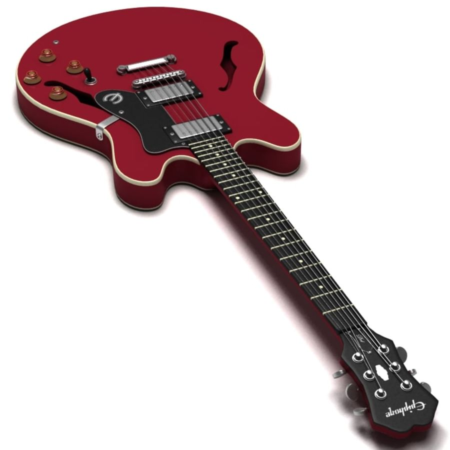 Guitar electric royalty-free 3d model - Preview no. 2