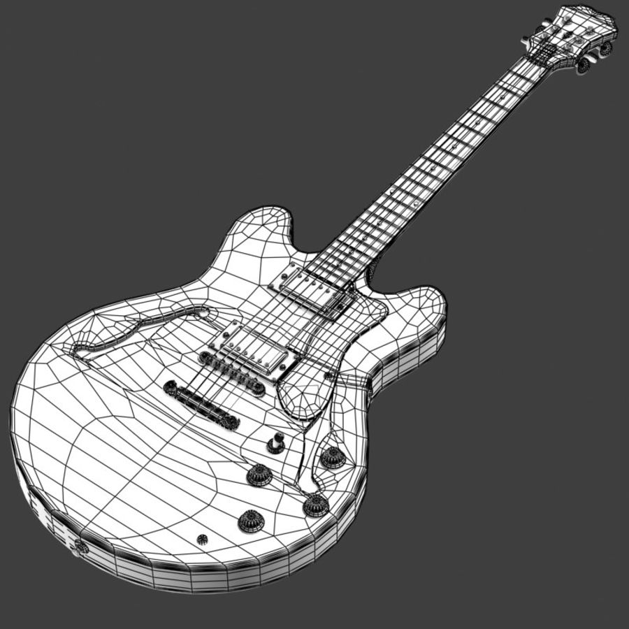 Guitar electric royalty-free 3d model - Preview no. 6