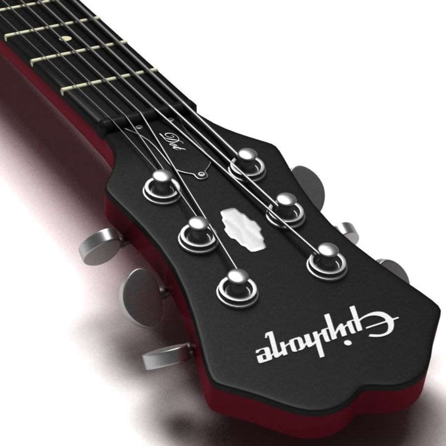 Guitar electric royalty-free 3d model - Preview no. 3