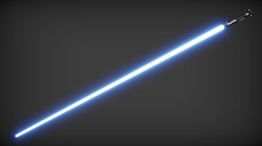 Obi-Wan Kenobi TMP Lightsaber royalty-free 3d model - Preview no. 4