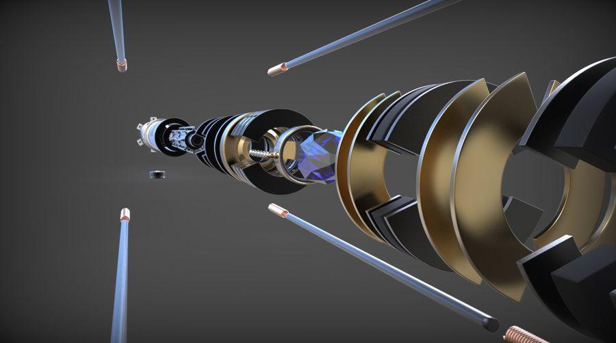 Obi-Wan Kenobi TMP Lightsaber royalty-free 3d model - Preview no. 13