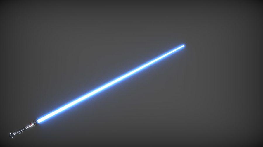 Obi-Wan Kenobi TMP Lightsaber royalty-free 3d model - Preview no. 19
