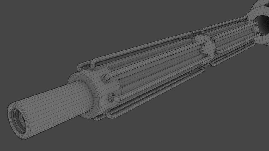 Obi-Wan Kenobi TMP Lightsaber royalty-free 3d model - Preview no. 37