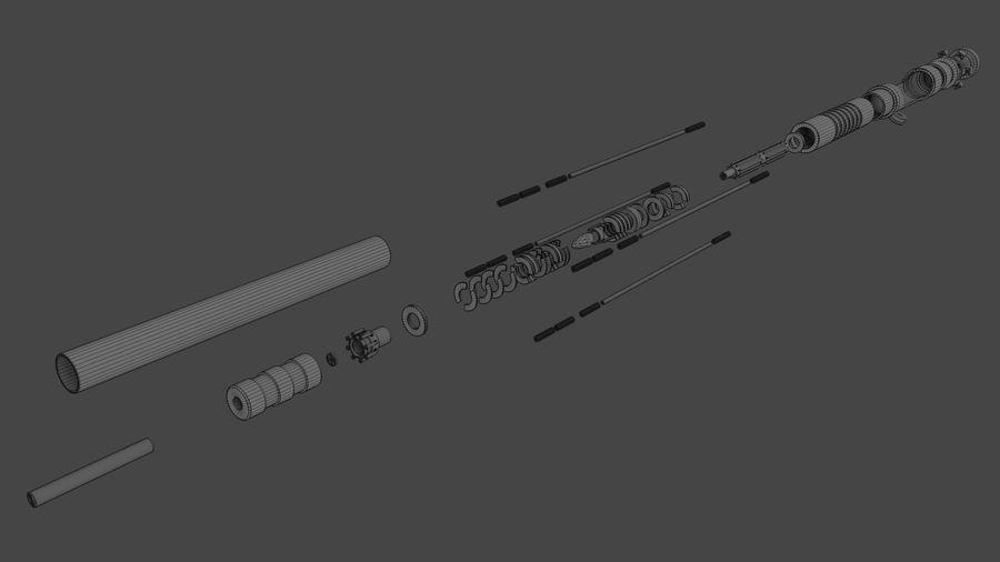 Obi-Wan Kenobi TMP Lightsaber royalty-free 3d model - Preview no. 33