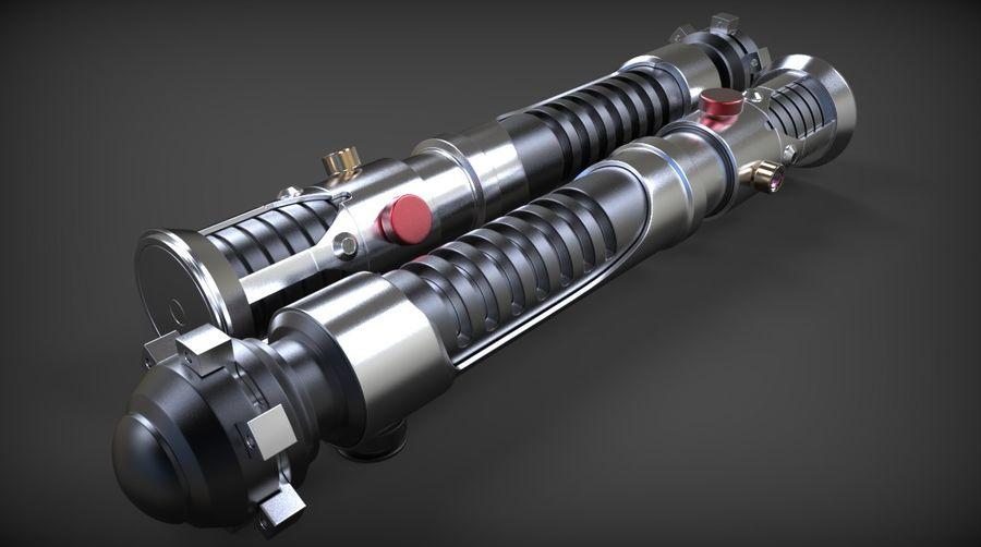 Obi-Wan Kenobi TMP Lightsaber royalty-free 3d model - Preview no. 22