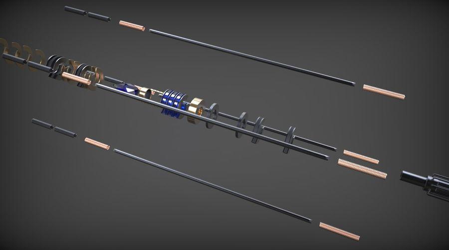 Obi-Wan Kenobi TMP Lightsaber royalty-free 3d model - Preview no. 11