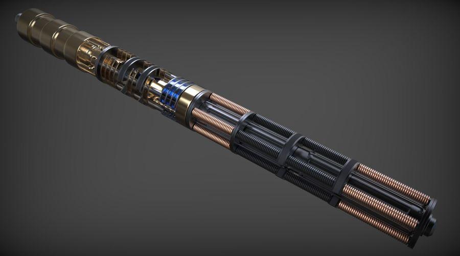 Obi-Wan Kenobi TMP Lightsaber royalty-free 3d model - Preview no. 15
