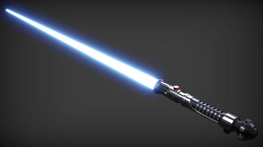Obi-Wan Kenobi TMP Lightsaber royalty-free 3d model - Preview no. 5