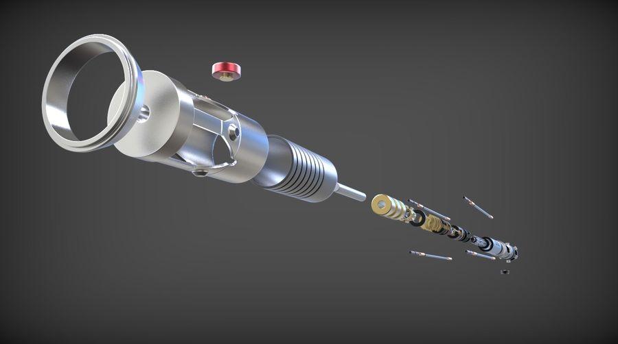 Obi-Wan Kenobi TMP Lightsaber royalty-free 3d model - Preview no. 9