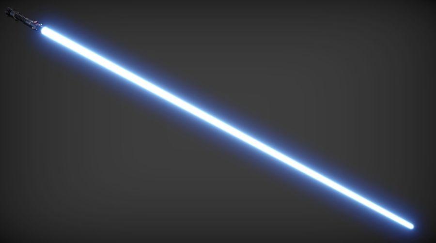 Obi-Wan Kenobi TMP Lightsaber royalty-free 3d model - Preview no. 3