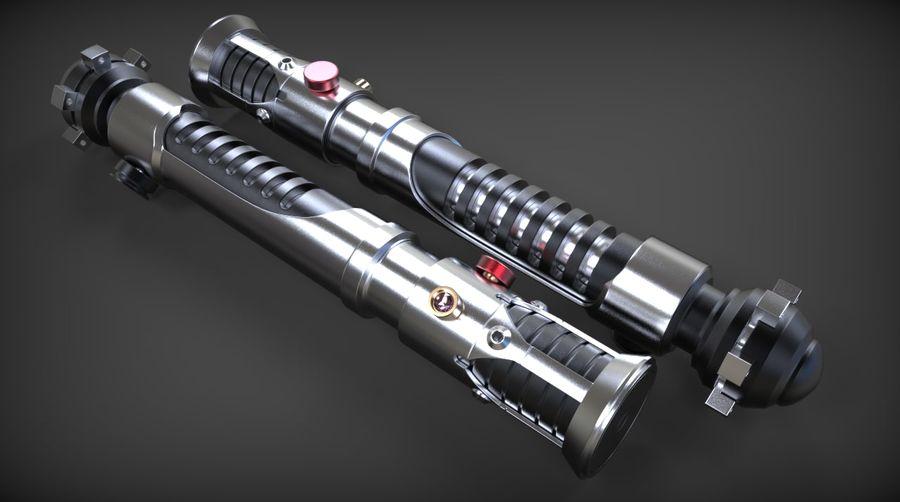 Obi-Wan Kenobi TMP Lightsaber royalty-free 3d model - Preview no. 1
