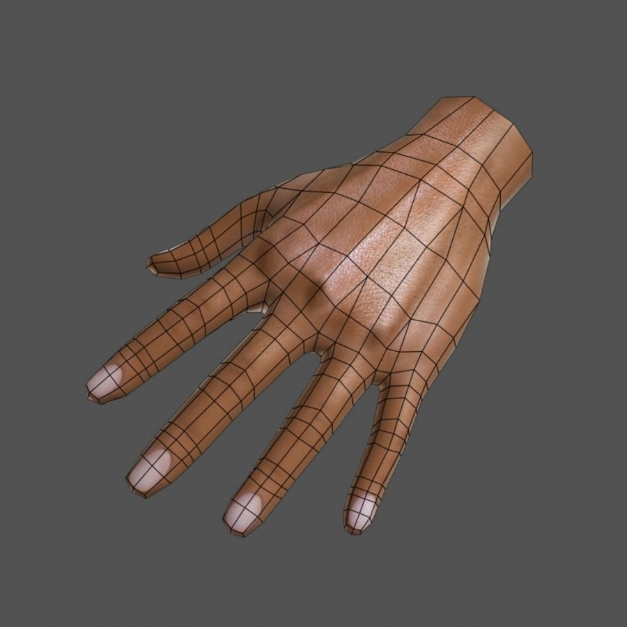 Low Poly Hand royalty-free 3d model - Preview no. 5