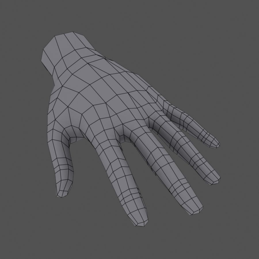 Low Poly Hand royalty-free 3d model - Preview no. 6