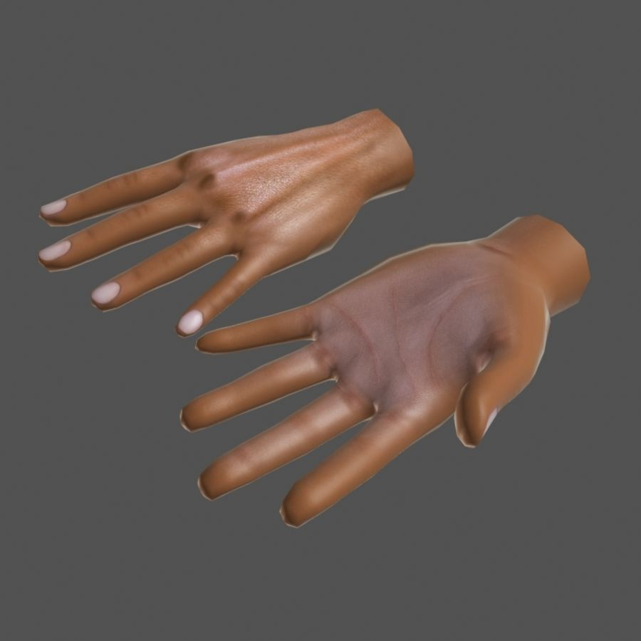 Low Poly Hand royalty-free 3d model - Preview no. 4