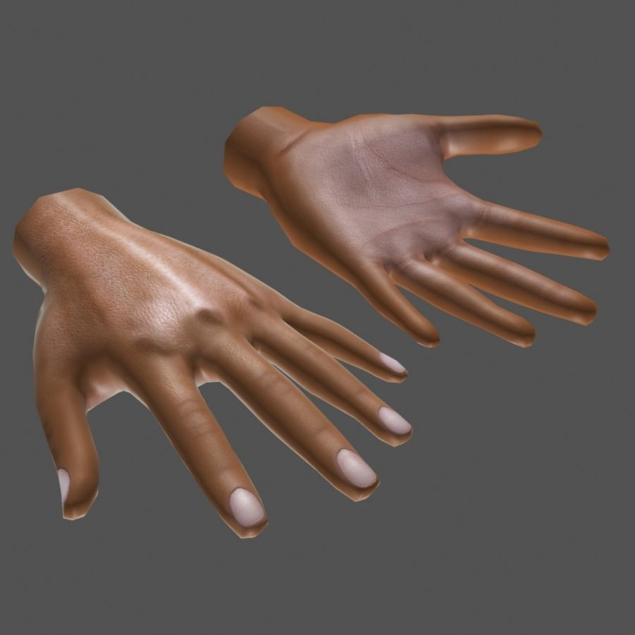 Low Poly Hand royalty-free 3d model - Preview no. 3