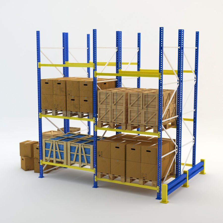 Industrial Rack royalty-free 3d model - Preview no. 2