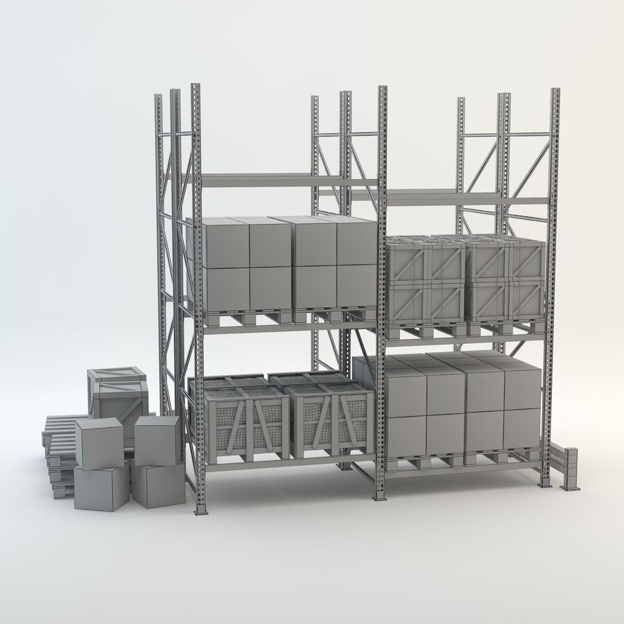 Industrial Rack royalty-free 3d model - Preview no. 4