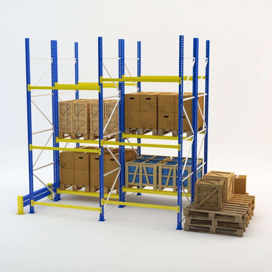 Industrial Rack royalty-free 3d model - Preview no. 3
