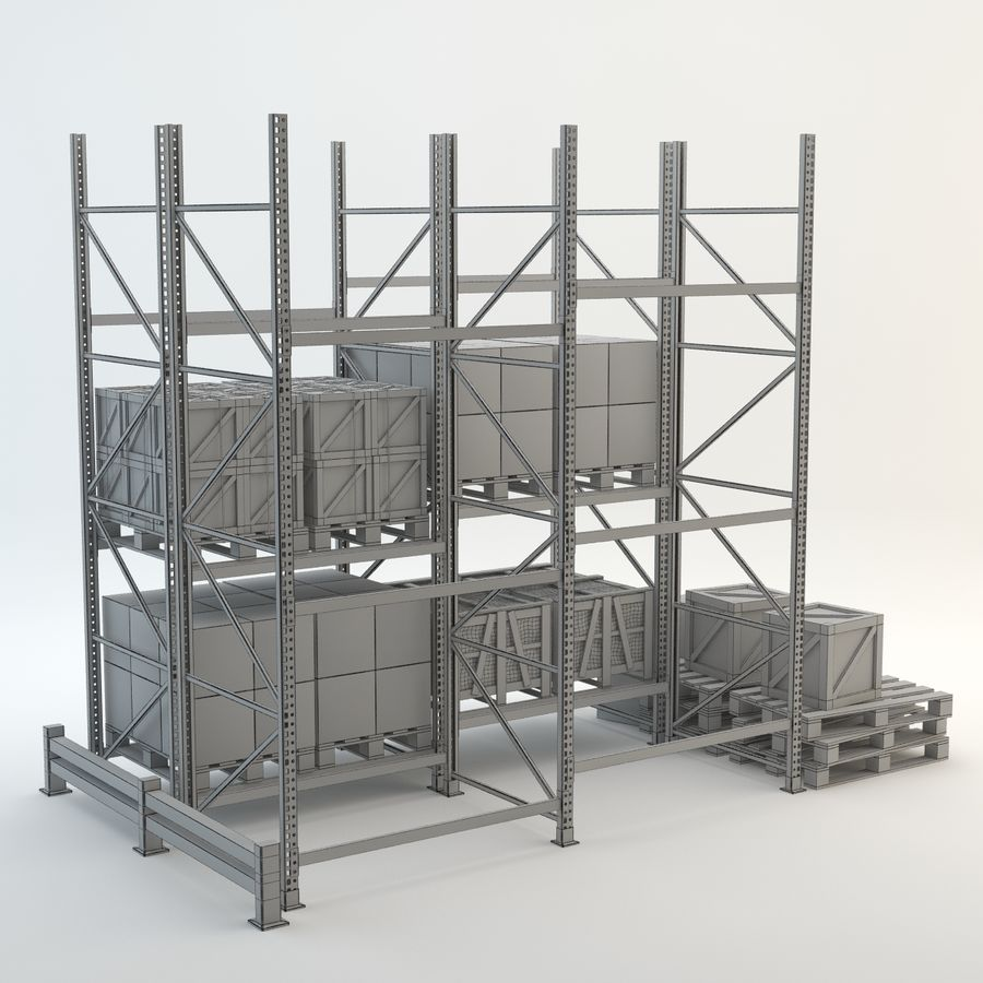 Industrial Rack royalty-free 3d model - Preview no. 5