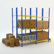 Rack industriale 3d model