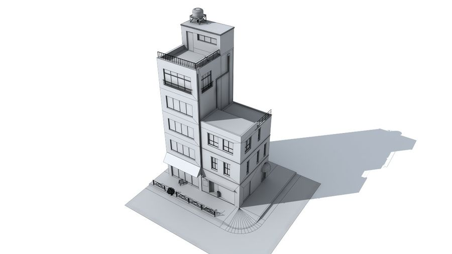 Japan building 002 royalty-free 3d model - Preview no. 5