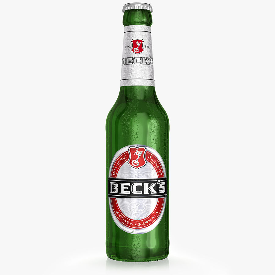 Beck`s Bottle royalty-free 3d model - Preview no. 1